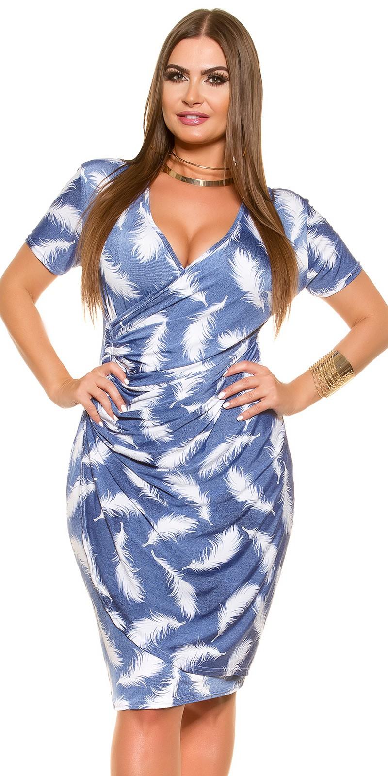 modrobiele šaty pre moletku