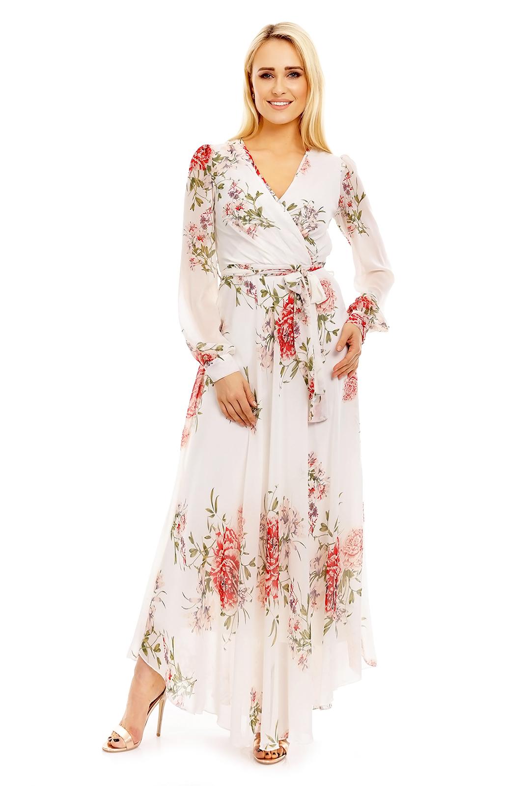 retro letné šaty s kvetinovou potlačou