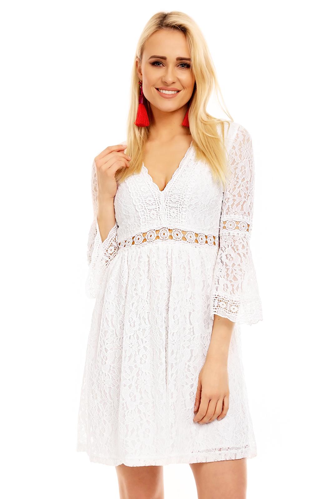 čipkované letné šaty