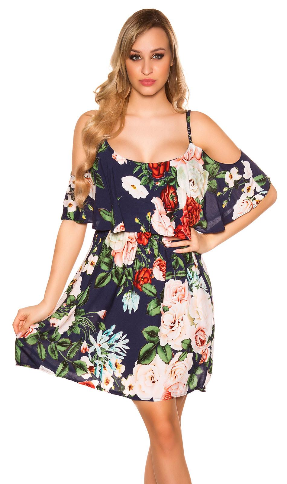 krátke letné šaty s kvetinovou potlačou