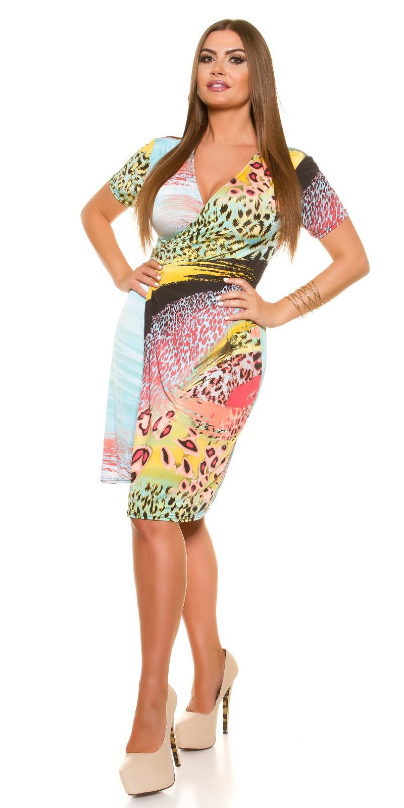 pestré letné šaty nadrozmerné pre moletku