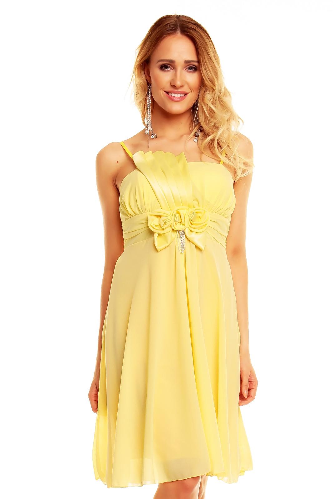 Výnimočná udalosť si žiada výnimočné šaty. Tu ich máte ) · spoločenské šaty  žlté d7fdaeed836