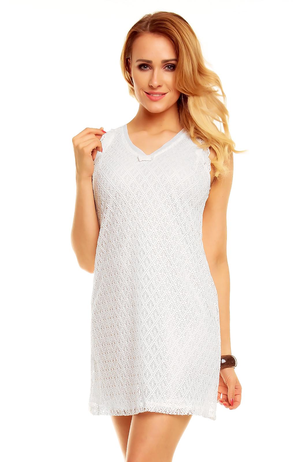 3dbc51e4f013 Biena Neodolateľné háčkované mini šaty   Biena dámske oblečenie