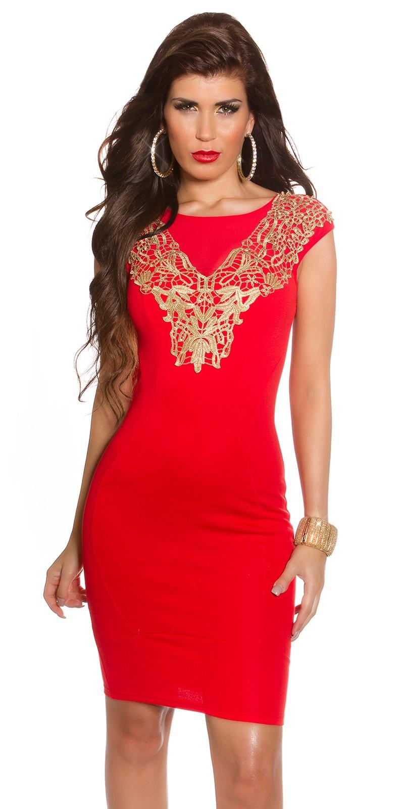 70d63f98f2d2 Biena Elegantné šaty so zlatou čipkou   Biena dámske oblečenie