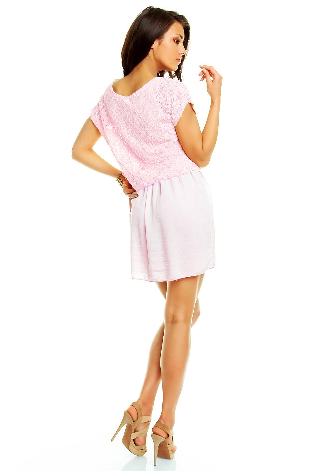 Biena Pôvabné romantické šaty s čipkovaným zvrškom   Biena dámske ... b3559c574d7