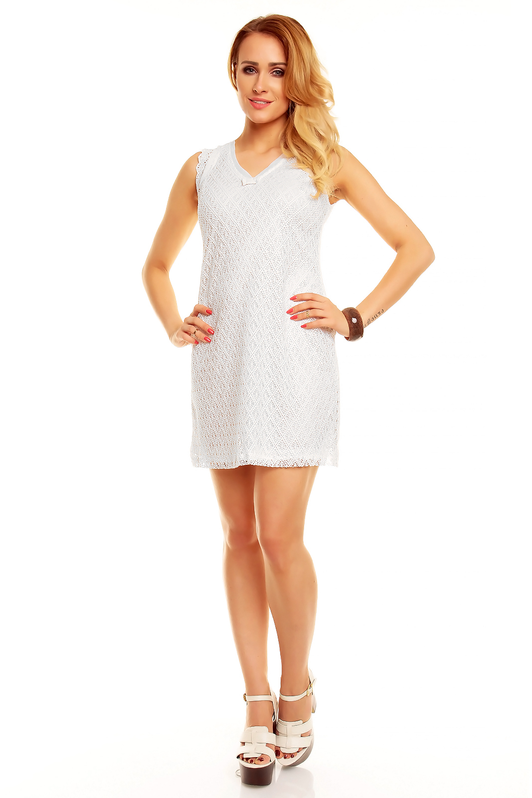 Biena Neodolateľné háčkované mini šaty   Biena dámske oblečenie 3303066860d